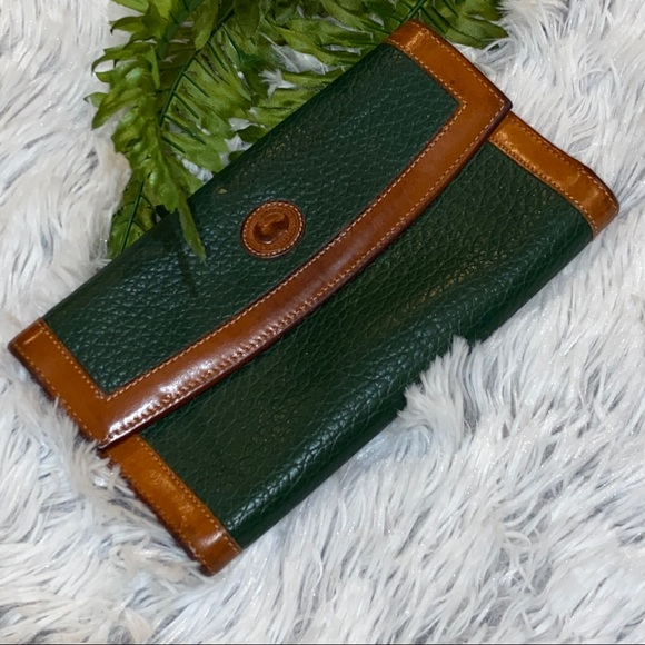 Vintage Green & Brown Dooney & Bourke Wallet